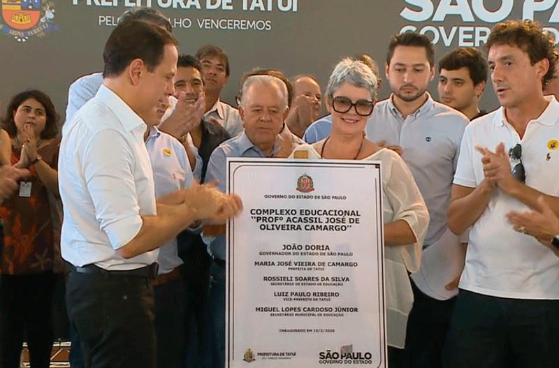 Doria visita Tatuí inaugura complexo educacional e promete ajudar cidades