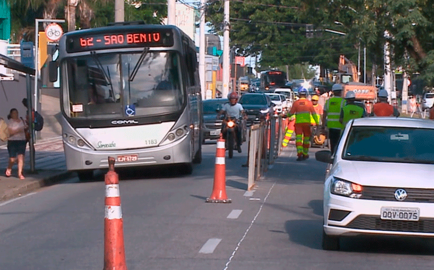Obras do BRT na Avenida Ipanema
