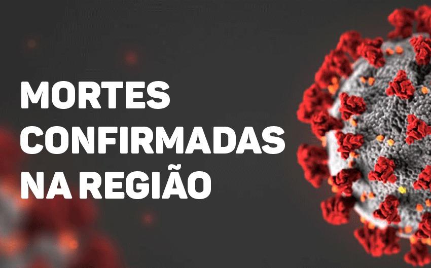ATUALIZAÇÃO: mortes confirmadas de Coronavírus na região.