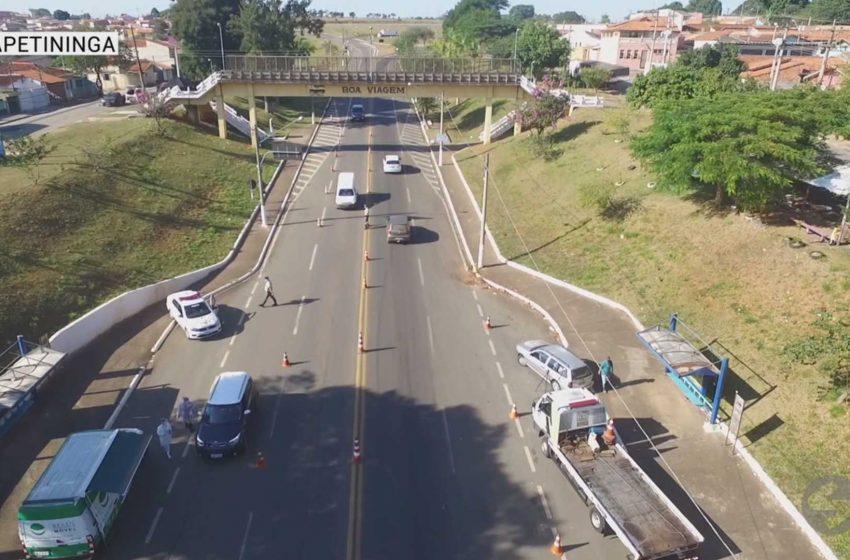 Itapetininga tem barreiras sanitárias nos acessos à cidade.