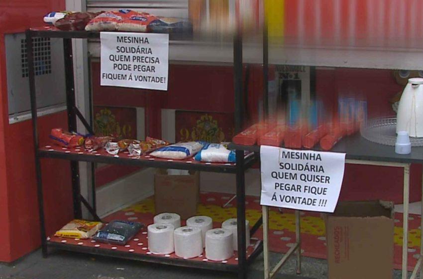 Empresária de Jundiaí cria mesa solidária para doação de alimentos.