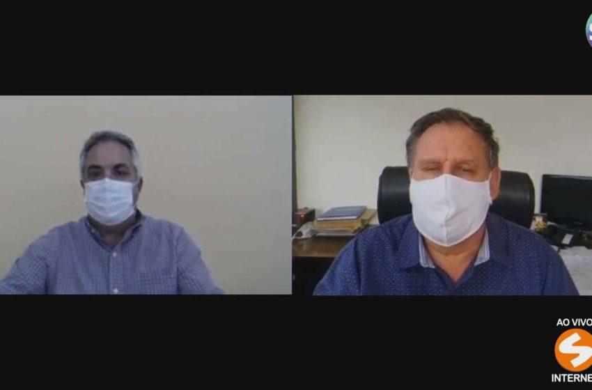 Prefeitos de São Roque e Boituva falam sobre a barreira sanitária.