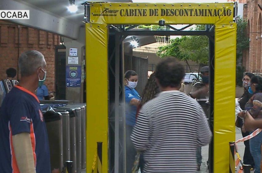 Sorocaba tem túneis de desinfecção.